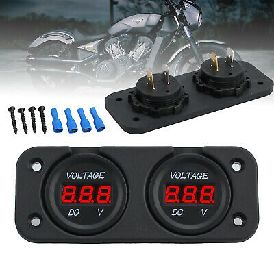 Digital LED Panel DC 12V Voltmeter Voltage Meter Display For Car Motorcycle Boat