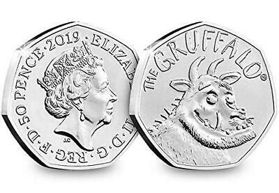 2019 Certified Brilliant Uncirculated BU 50p coin The Gruffalo