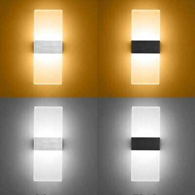 3W LED Wall Sconce Light Acrylic Indoor Lamp Corridor Living Room Bedroom UK