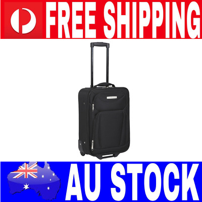 45Cm Upright Carry On Bag Case Black Luggage Lightweight Suitcase Travel Bag New