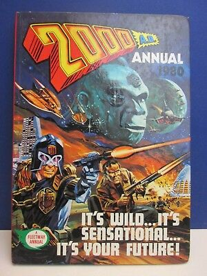 old vintage JUDGE DREDD 2000AD ANNUAL STORY BOOK 1980 HARDBACK fleetway 57z