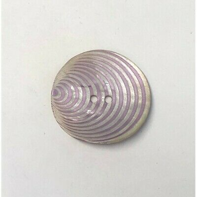 34mm Pearl Curved Lilac Lines Sea Shell Round Button Italian Design