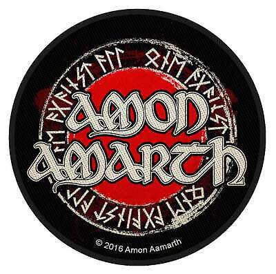 Amon Amarth Patch Band Logo Circular Official Black Metal Woven Sew On One Size