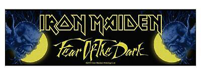 Iron Maiden Patch Fear Of The Dark Official New Black Strip 19cm x 5cm Patch