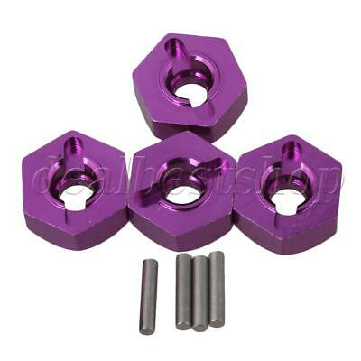4pcs Purple Alloy Wheel Hex Adapter for HPI RS4 SPORT3 RC1:10 On Road Car
