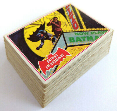 "1966 Scanlens BATMAN ""A"" (RED BAT) SET OF 44 CARDS"