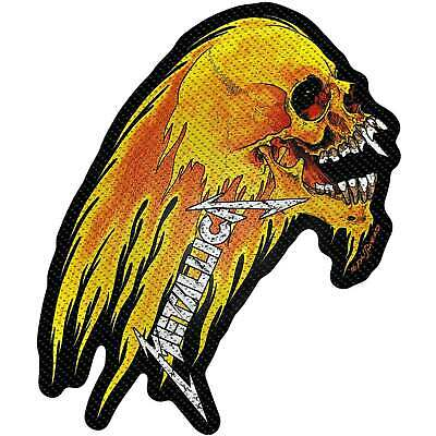 Metallica Patch Flaming Skull Band Logo new Official woven sew on
