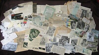 Vtg/Antique Ephemera/Paper Lot~Life Savers Ad,Birth Certificate,Stamps,PC,Photo+