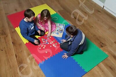 Kids Eva Foam Play Area Soft Mats Interlocking Large Floor Tiles Exercise Child
