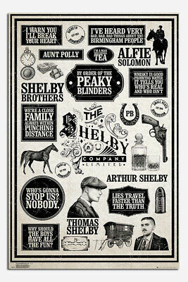Laminated Peaky Blinders Infographic Official Maxi Poster