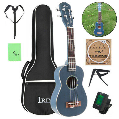 21Inch 4 Strings Soprano Ukulele Spruce Wood + Bag +Turner + String Capo Strap