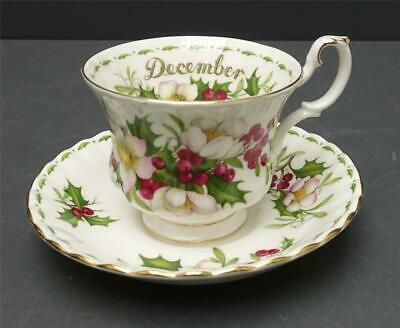 Royal Albert Flower of the Month December Christmas Rose Tea Cup and Saucer Set