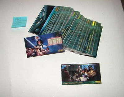 Star Wars Widevision Topps Widevision ROTJ 144 base trading cards set 319