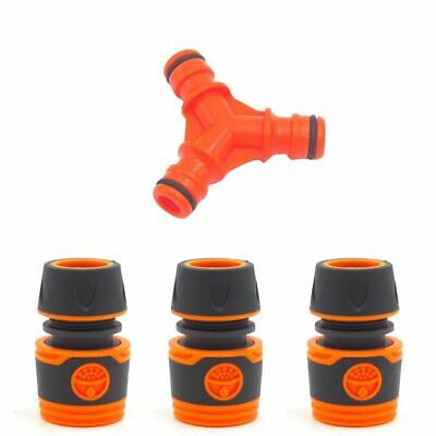 Water Pipe Splitter Plastic Y-Shaped 3-Way Lawn Connectors Quick Hose Garden Abs
