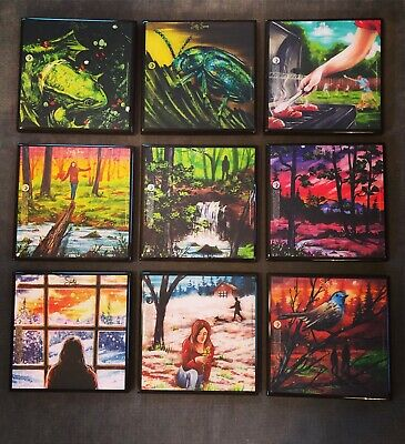 Tree House Brewing Craft Beer Coasters Set Of 8 - Epoxy 4x4 Handmade With Labels