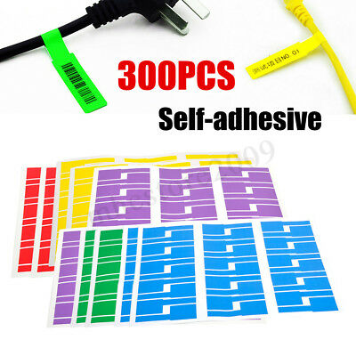 e0c0470b58db 300x 10 Sheet Self-adhesive Cable Wire Label Identification Markers Tags  Sticker