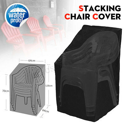 Waterproof Outdoor Stacking Chair Cover Garden Parkland Patio Sofa Furniture