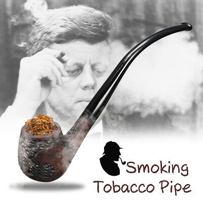 """Durable 6.6"""" Long Wooden Wood Smoking Pipe Tobacco Cigarettes Cigar Pipes Gift"""