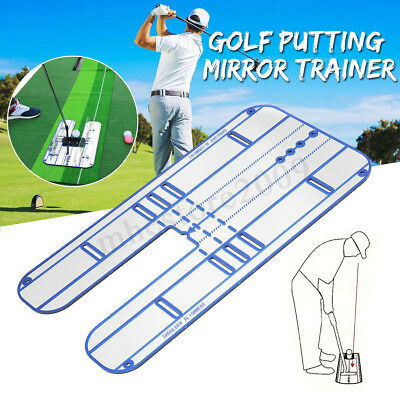 Golf Putting Mirror Alignment Training Aid Swing Trainer Eye Line Practice Tool