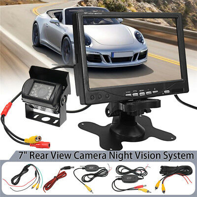 7 Inch Monitor Wireless Rear View Backup Camera Night Vision System For RV Truck