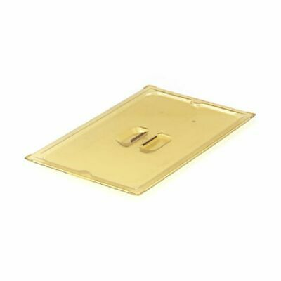 Vollrath 33600 Amber 1/6 Size High Temp Solid Plastic Pan Cover