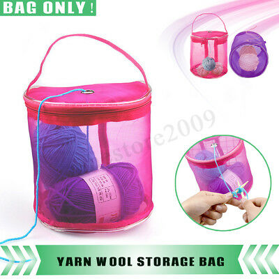 Large Yarn Wool DIY Storage Bags Knitting Crochet Needle Craft Holder Case
