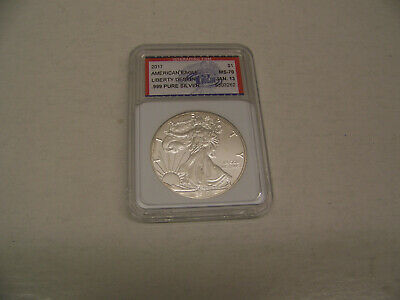 2017 American Silver Eagle Dollar -  1St. Day of Issue Jan. 13