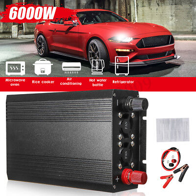 Car Pure Sine Wave Power Inverter Converter 3000W(Peak6000W) DC 12V to AC 110V