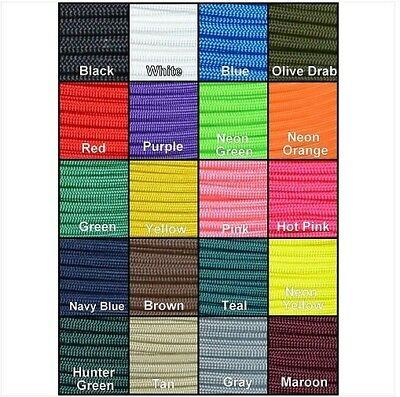 100FT 550 Paracord Parachute Cord Lanyard Mil Spec Type III 7 Strand Core 20FT