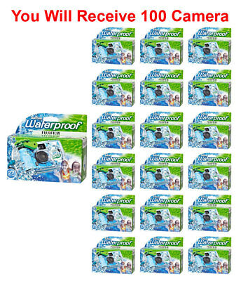 100x Fuji Quicksnap One Use Underwater Disposable Waterproof Camera Exp. 03/2020