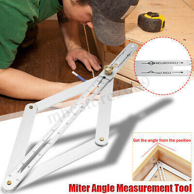 15'' 170 ° Steel Protractor Miter Angle Measuring Tool Ruler Frame Multi-angle