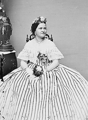 First Lady Mary Todd Lincoln Portrait circa 1860 New 8x10 Photo