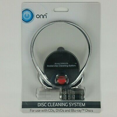 Onn Disc Cleaning System for CD's, DVD's, and Blu-Ray Discs Brand New Fast Ship