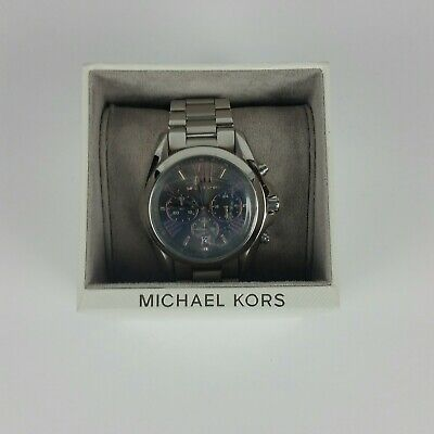 7bc6aa710a56 Authentic Michael Kors Bradshaw Silver Grey Chronograph Women s Mk6557 Watch