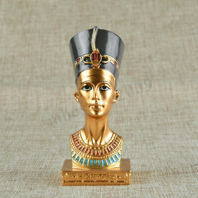 4.5'' Ancient Resin Egyptian Pharaoh Collectible Figurine Statue Sculpture Gift
