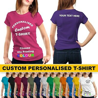 Ladies Personal Custom Printed Promotional T-Shirt Women Lot Stag Hen Party Gift