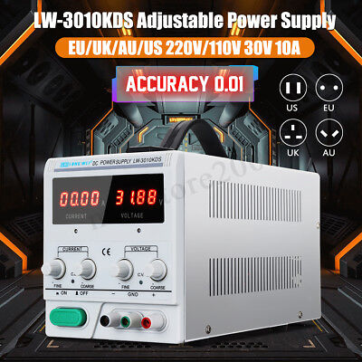 0~30V 0~10A 110/220V DC Power Supply Adjustable Precision Variable Digital Lab