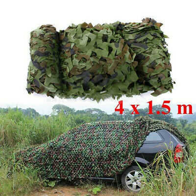 Camouflage Net Camo Hunting Shooting Hide Army Camping Woodland Netting 4mx1.5m