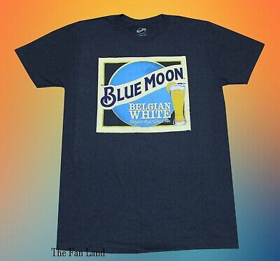 New Blue Moon Belgian White Label Beer Vintage Mens T-Shirt