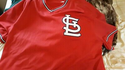 729fe618 VINTAGE MAJESTIC ST. Louis Cardinals Blue Cooperstown Throwback ...
