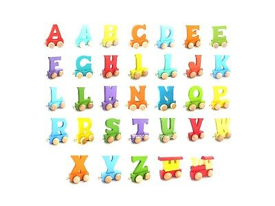 Colour Wooden Name Train Letters Personalised Name Train as Children Baby Gift