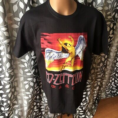 d9c4eb90 Led Zeppelin 2004 Graphic T-shirt Icarus Logo Size Men's XL Late Vintage