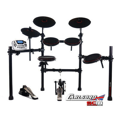 Carlsbro CSD180 Electronic Drum Kit w/ Bonus Digital Drumkit Stool & Headphones