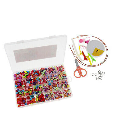 720Pcs/Box Safety Kids Children DIY Necklace Bracelet Beads Craft Jewelry Set