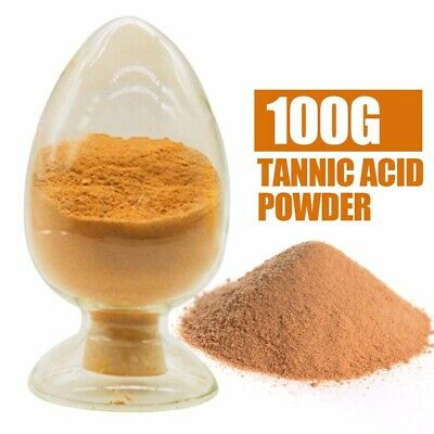 100 Grams 99.5% Purity Tannins Acid Powder (Dying Wine,Leather,Wood,Tannic Acid)