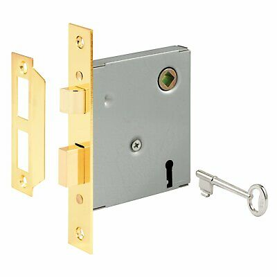 """Prime Line E2294 5-1/2"""" Steel Brass Plated Mortise Lock Assembly"""
