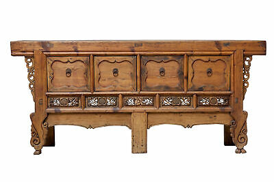 Large Late 19Th Century Chinese Hard Wood Sideboard