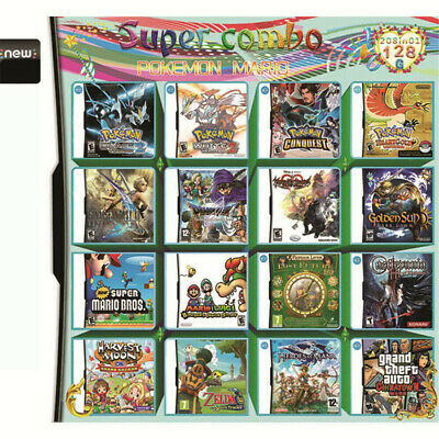 208 In 1 Multi Game Cartridge For NDS NDSL NDSI 3DS Children Kids Toy Xmas Gift