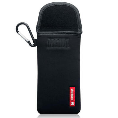 Shocksock Neoprene Pouch Case with Carabiner for Samsung Galaxy A70 - Black