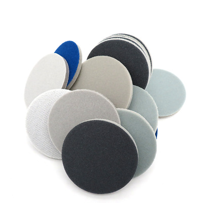 "3"" Hook & Loop Sanding Discs Waterproof Foam Sandpaper For Phone Case Polishing"